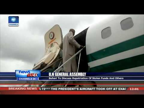 Buhari Leaves Abuja For UN General Assembly In New York