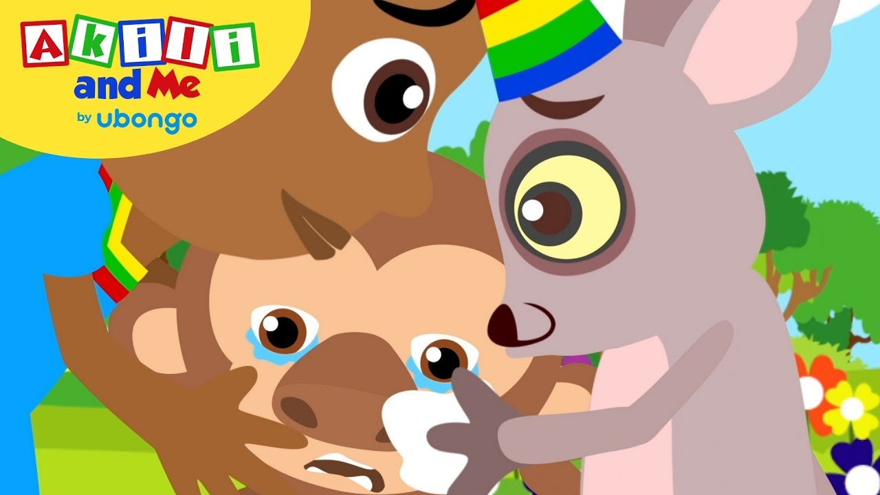Monkey is Crying 😭| Learn Emotions with Akili and Me | African Cartoons for Preschoolers