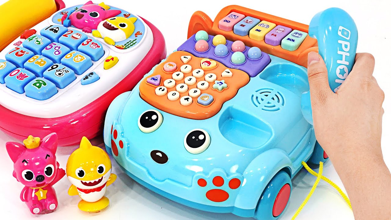 Sing together with an exciting music phone~ Dance with Baby Shark and Pinkfong! | PinkyPopTOY