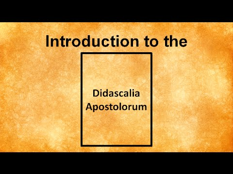 Introduction to the Didascalia Apostolorum (Apostolic Constitutions)