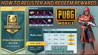 PUBG MOBILE ALL TALENT CHAMPIONSHIP EXPLAINED NEW CREW CHALLENGE HOW TO REGISTER AND WIN REWARDS