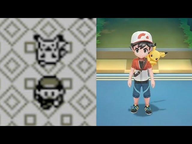 Pokemon Yellow 1998 Vs Pokemon Let S Go Pikachu Eevee 2018 Youtube