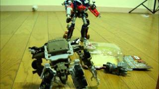 TRANSFORMERS 1984/DOTM OPTIMUS VS MEGATRON IN STOP-MOTION!!!!