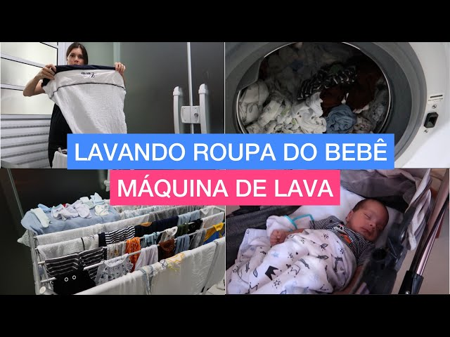 LAVANDO AS ROUPAS DO BABY LUCAS PELA PRIMEIRA VEZ - COMO HIGIENIZAR A MÁQUINA DE LAVAR