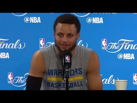 Stephen Curry NBA Finals Media Day #1 Press Conference | 2017 NBA Finals