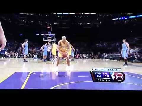 Ronnie Price V.s. Derek Fisher- Technical Foul