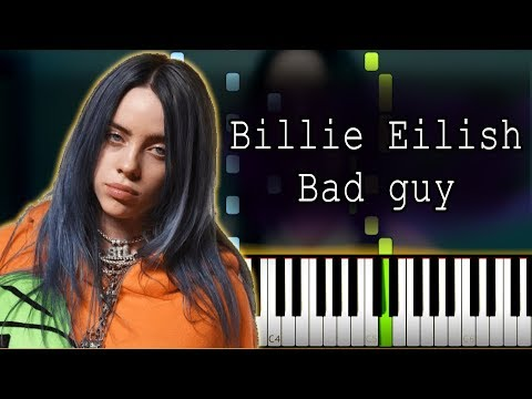 😼 Billie Eilish - bad guy Piano Tutorial (Sheet Music + midi with lyrics) thumbnail