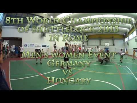 men's double: Germany vs Hungary  5th place 8th World Champi