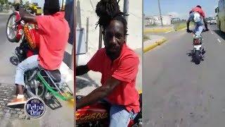 Sizzla On The Jamaica Highway Stunt Riding Bad Rasta