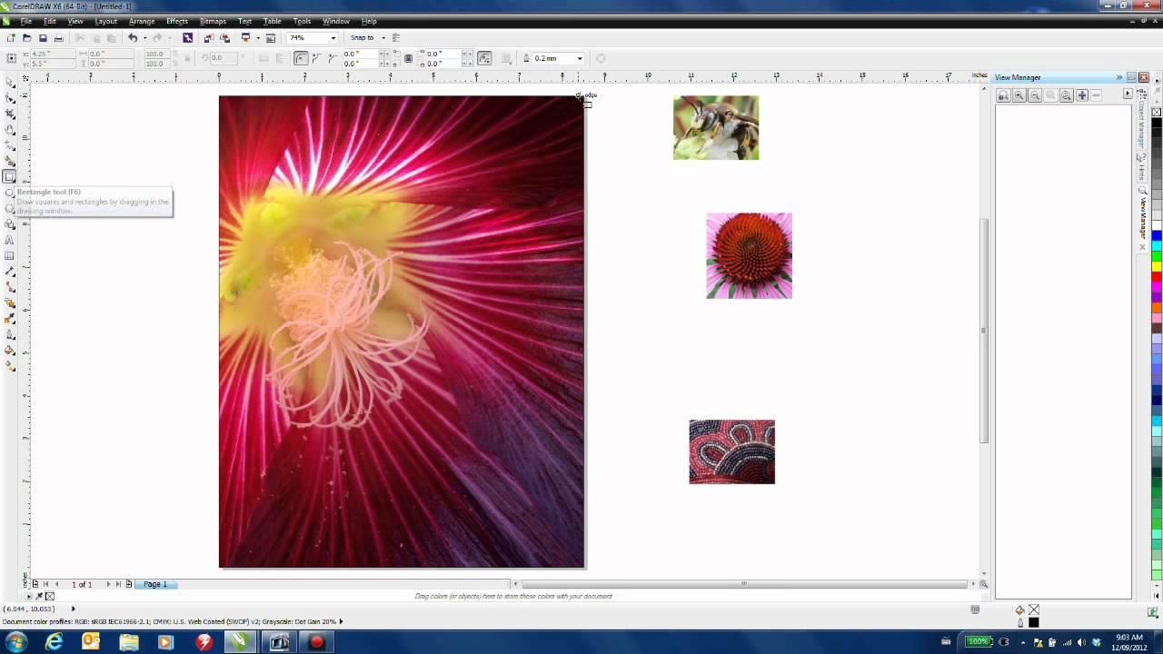 Creating a magazine cover in coreldraw x6 youtube for How to make a blueprint online
