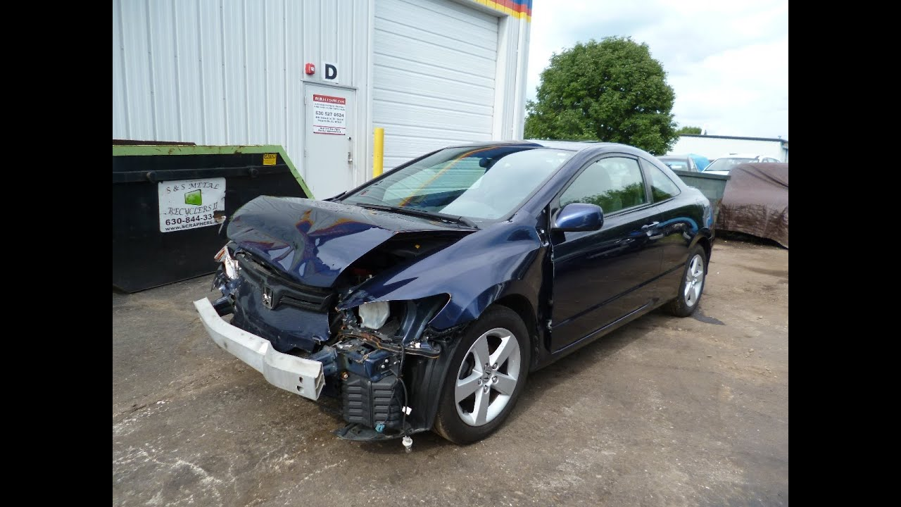 2007 Honda Civic 2dr 51K miles repairable salvage car for sale by ...