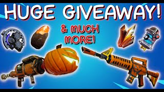 MASSIVE GIVEAWAY! SUNBEAM, BRIGHTCORE, 130 WEAPONS! // 1K SUBS GIVEAWAY! // Fortnite Save The World