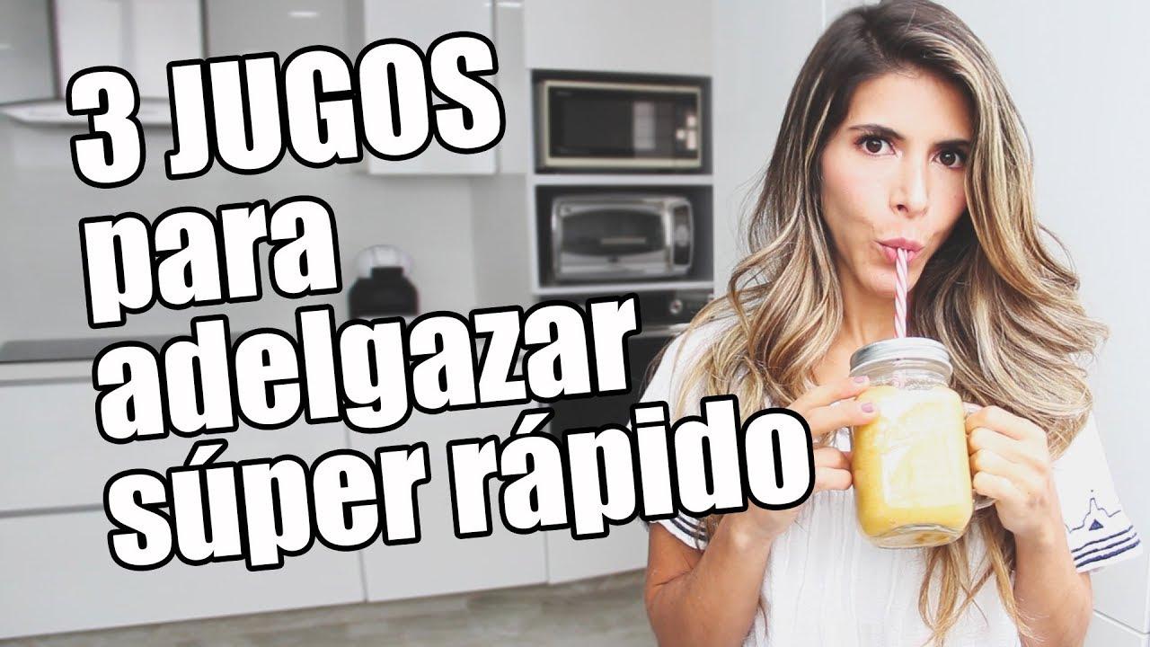 3 JUGOS para BAJAR de PESO súper efectivos - Lau - YouTube