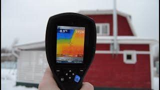Тепловизор. Обследование дома из газобетона, каркаса и дерева