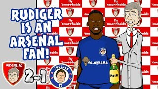 😂SCREW YOU CHELSEA!😂 ARSENAL 2-1 CHELSEA! (Song Parody Highlights Goals)