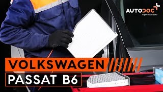Cum se inlocuiesc filtru de habitaclu pe VW PASSAT B6 TUTORIAL | AUTODOC