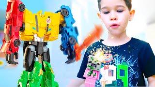 Transformers Combiner force fight Ultra Bee vs Pigman