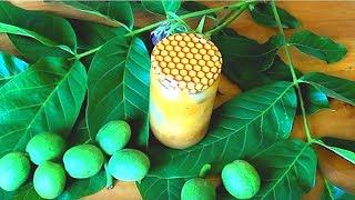 Супер - настойка. Зеленые орехи+мед. Не только щитовидка скажет спасибо.