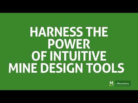 Micromine 2020.5 - NEW  Mine Design Tools