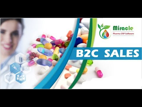 How to Manage B2C Sales using Miracle Pharma ERP Software by www.solversolutions.in