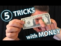 5 AWESOME MAGIC TRICKS with MONEY!!