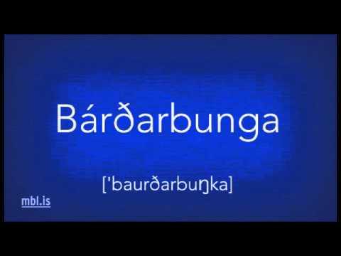"How to pronounce ""Bárðarbunga"""