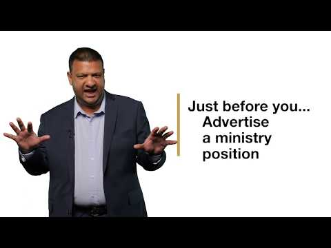 Just Before You... advertise a ministry position