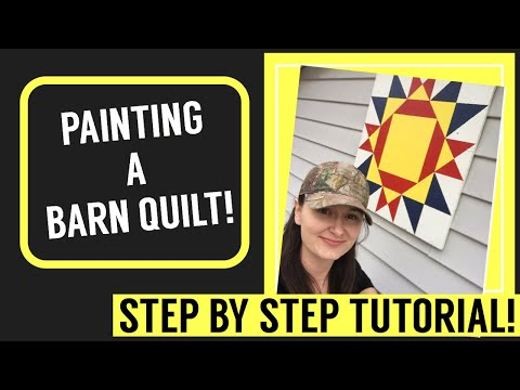 Painting a Barn Quilt-DIY-Step by Step Tutorial