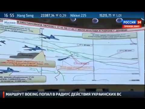 Russian Ministry of Defense briefing on the Boeing 777 crash near Donetsk
