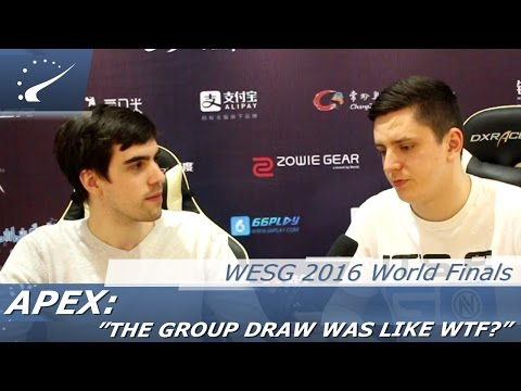 "apEX: ""The group draw was like WTF?"" - WESG 2016"