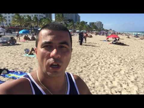 Arrastão na praia de Fort Lauderdale!!! #SQN