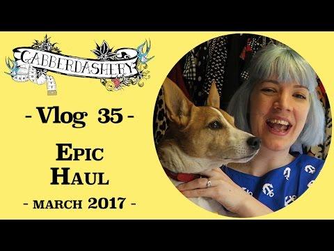 EPIC HAUL - Fabrics, yarn, birthday goodies and sewing plans! | Vlog 35