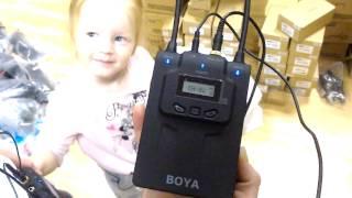 Тест радиопетлички Boya BY-WM8 UHF двухканальная
