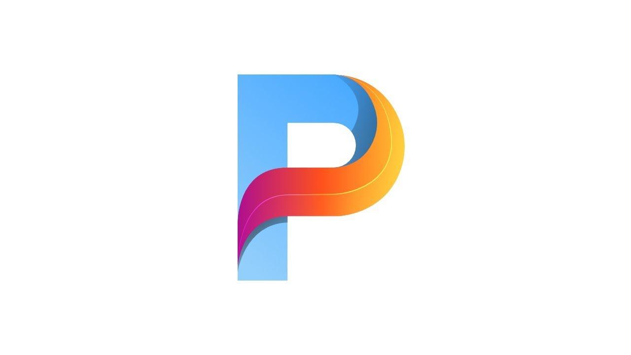 P Design: 3D Letter P Logo In Affinity Designer