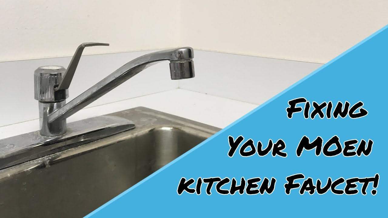 How To Fix Moen Kitchen Faucets Youtube
