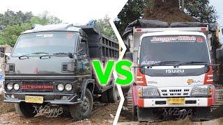 Dump Truck Isuzu Elf HD 125PS VS Mitsubishi Colt Diesel 100PS