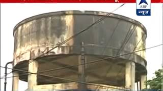 EARTHQUAKE:  Water spills out of water tank in Sealdah