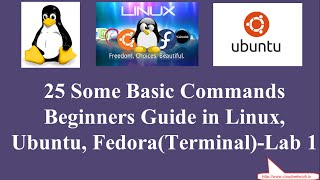 25 Some Basic Commands for Beginners Guide in Redhat Linux, Ubuntu, Fedora (Terminal) - Lab 1