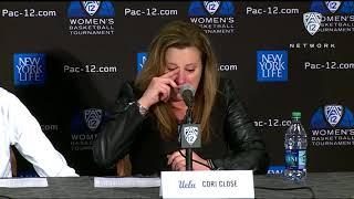 2019 Pac-12 Women's Basketball Tournament: An emotional Cori Close reflects after semifinal loss:...