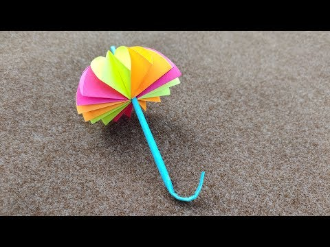How To Make A Paper Umbrella // DIY Paper Umbrella Craft Ideas // Kids Room Decor Ideas