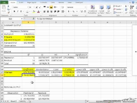 Regression Fitting in Excel-1