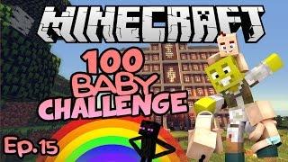 Rainbows & Darkness..  Minecraft 100 Baby Challenge Ep.15