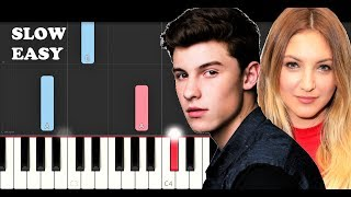 Shawn Mendes ft Julia Michaels - Like To Be You (SLOW EASY PIANO TUTORIAL)