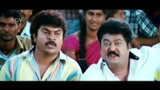 Jaggesh teaching English to Rowdy Comedy Scenes   Kuri Prathap   Cool Ganesha Kannada Movie