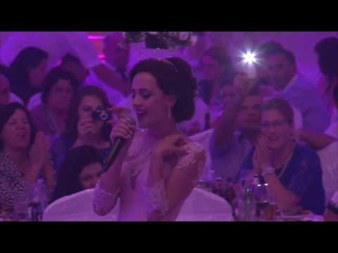 Beautiful Bride Klevina Singing for her Husband