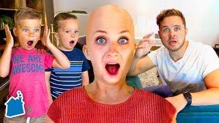 SHAVING MY HEAD BALD PRANK ON FAMILY!! ?