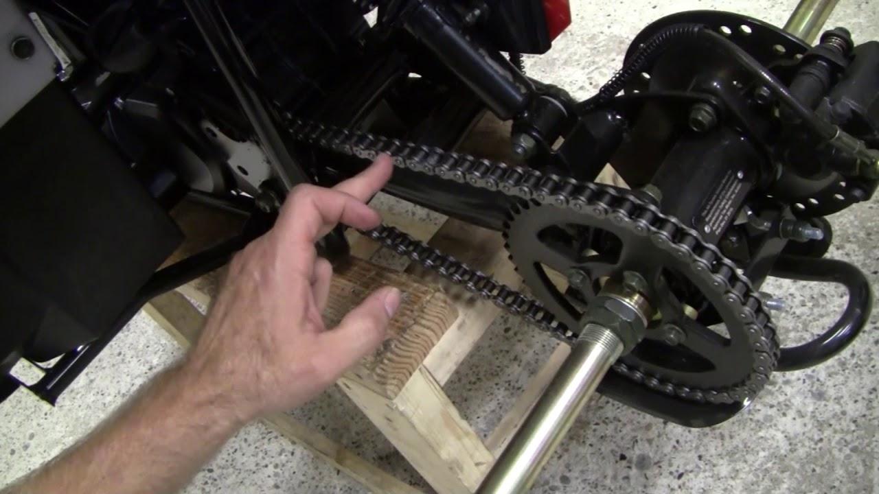 Tightening ATV Chain