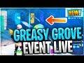 *NEW* GREASY GROVE EVENT MELTING NOW | VENDING MACHINES INSIDE // SEASON 9 (fortnite LIVE)