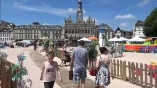 la CPAM de l'Aisne sur la plage de Saint-Quentin