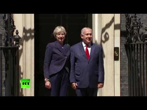 Netanyahu meets Theresa May at Downing Street